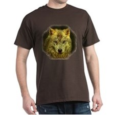 Golden Pencil Wolf Dark T-Shirt