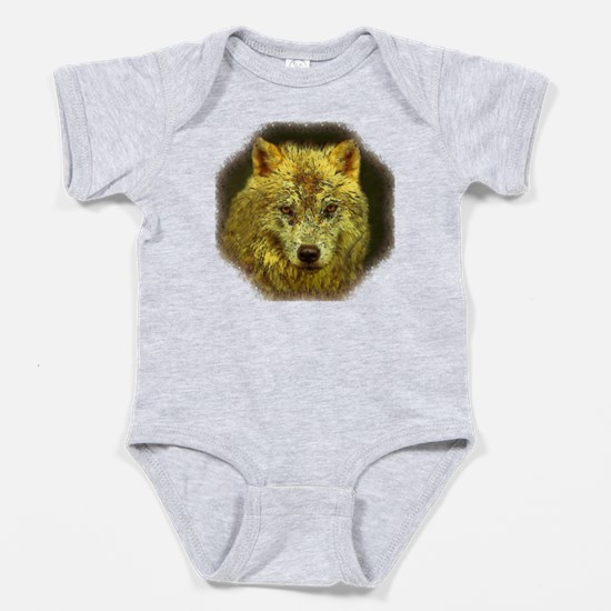 Golden Pencil Wolf Baby Bodysuit