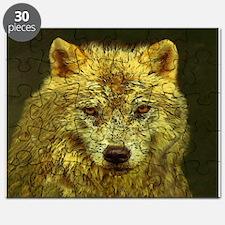 Golden Pencil Wolf Puzzle
