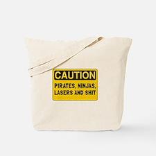 Pirates Lasers Ninjas Tote Bag