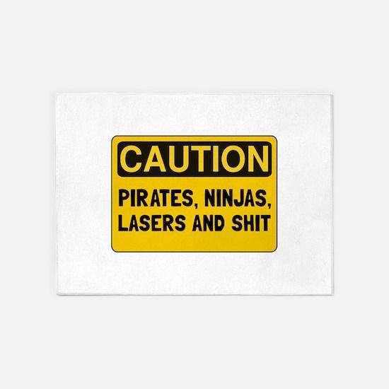 Pirates Lasers Ninjas 5'x7'Area Rug