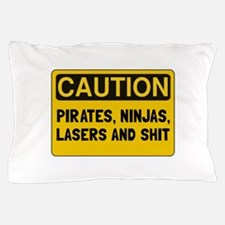 Pirates Lasers Ninjas Pillow Case