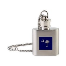 Palmetto Moon State Flag Flask Necklace