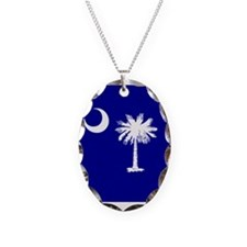 Palmetto Moon State Flag Necklace