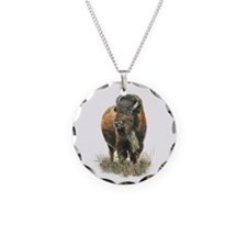 Watercolor Buffalo Bison Necklace
