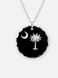 South Carolina Palmetto State Flag Necklace