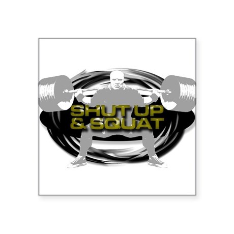 SHUT UP & SQUAT POWERLIFTING Oval Sticker