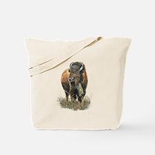 Watercolor Buffalo Bison Animal Art Tote Bag