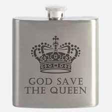 God Save The Queen Flask