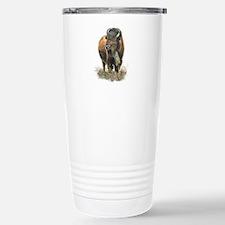 Watercolor Buffalo Bison Animal Art Travel Mug