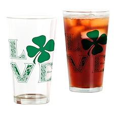Irish Celtic Love Drinking Glass