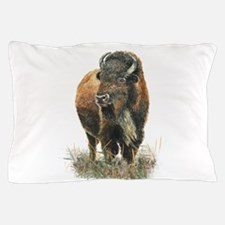 Watercolor Buffalo Bison Animal Art Pillow Case