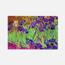 van gogh purple iris Magnets