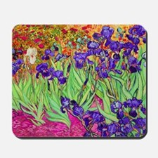 van gogh purple iris Mousepad