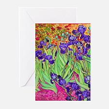 van gogh purple iris Greeting Cards