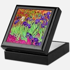 van gogh purple iris Keepsake Box
