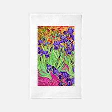 van gogh purple iris 3'x5' Area Rug