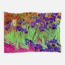 van gogh purple iris Pillow Case