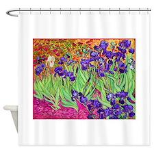 van gogh purple iris Shower Curtain