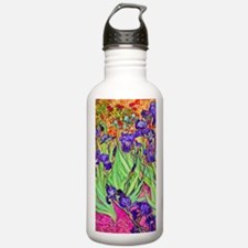 van gogh purple iris Water Bottle