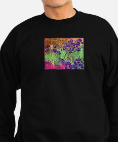 van gogh purple iris Sweatshirt