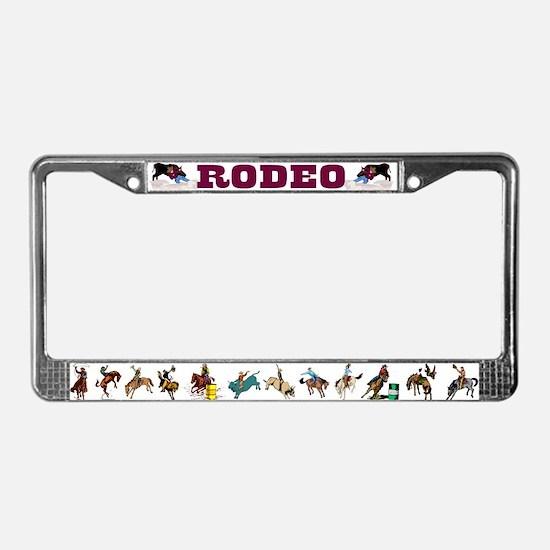 Cute Cowboy License Plate Frame