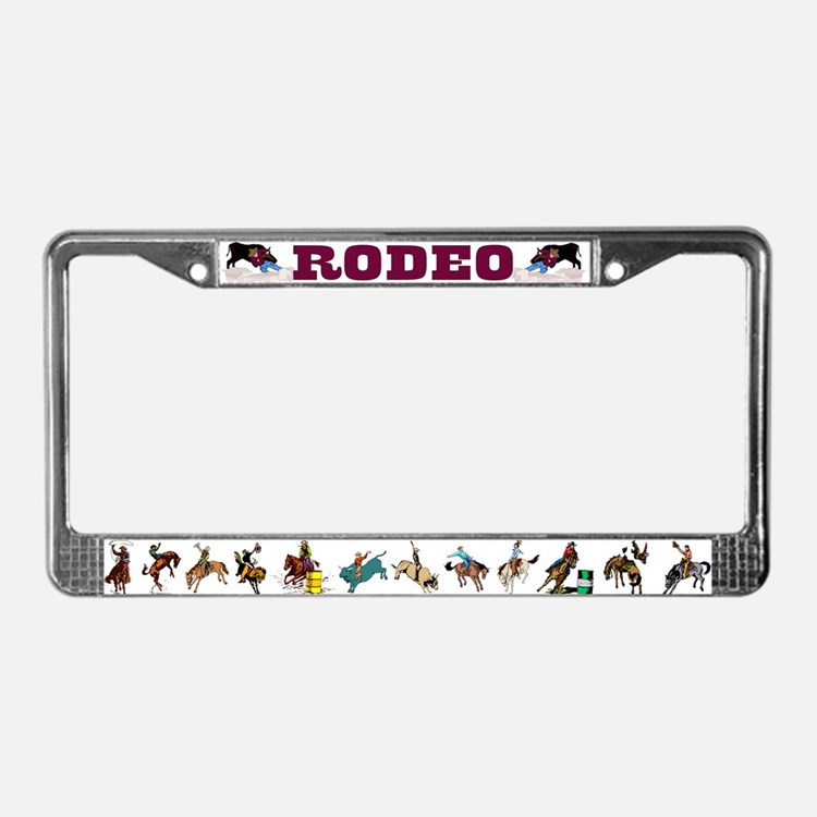 Cute Bronc License Plate Frame