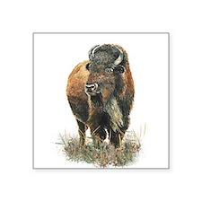 Watercolor Buffalo Bison Animal Art Sticker