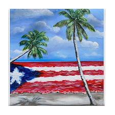 Palmas de Puerto Rico Tile Coaster