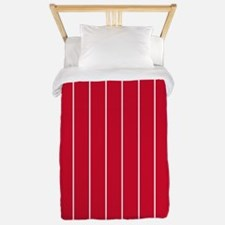 Vertical Pinstripe White SCARLET RED Background T
