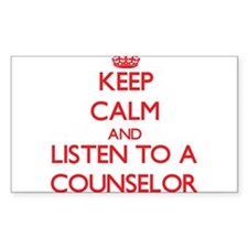 Keep Calm and Listen to a Counselor Decal