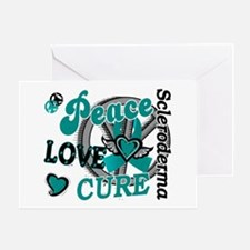 Scleroderma Peace Love Cure 2 Greeting Card
