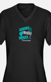 Scleroderma Women's Plus Size V-Neck Dark T-Shirt