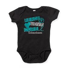 Scleroderma Peace Love Cure 1 Baby Bodysuit