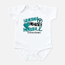 Scleroderma Peace Love Cure 1 Infant Bodysuit