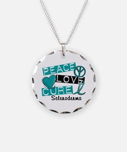 Scleroderma Peace Love Cure Necklace