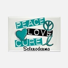 Scleroderma Peace Love Cure 1 Rectangle Magnet