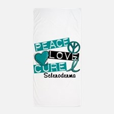 Scleroderma Peace Love Cure 1 Beach Towel