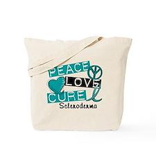 Scleroderma Peace Love Cure 1 Tote Bag