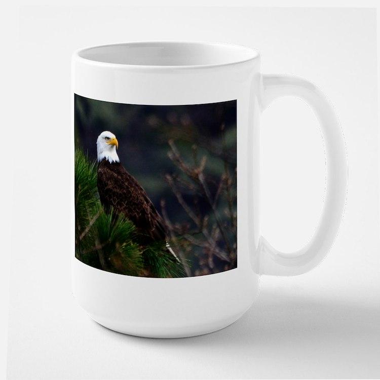 Bald Eagle in Pines Mugs