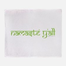 Namasté Y'all Throw Blanket
