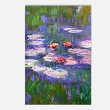 Claude Monet, pink and re Postcards (Package of 8)