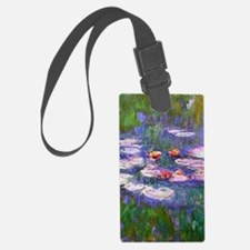 Claude Monet, pink and red water Luggage Tag