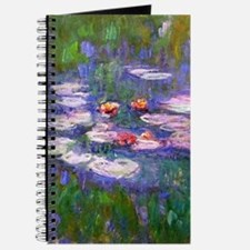 Claude Monet, pink and red waterlily, oil  Journal