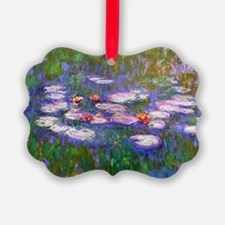 Claude Monet, pink and red waterl Picture Ornament