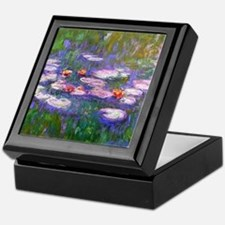 Claude Monet, pink and red waterlily, Keepsake Box