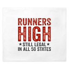 Runner's High. Still Legal. King Duvet