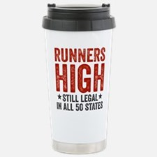Runner's High. Still Le Stainless Steel Travel Mug