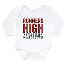 Runner's High. Still L Long Sleeve Infant Bodysuit
