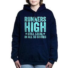 Runner's High. Still Leg Women's Hooded Sweatshirt